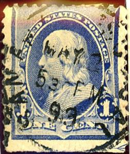 U.S. #219b Used Date Cancel