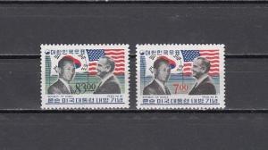 South Korea, Scott cat. 544-545. Pres. Park & USA Johnson issue. Light Hinged.