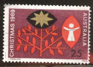 AUSTRALIA Scott 467 Used 1969 Christmas stamp