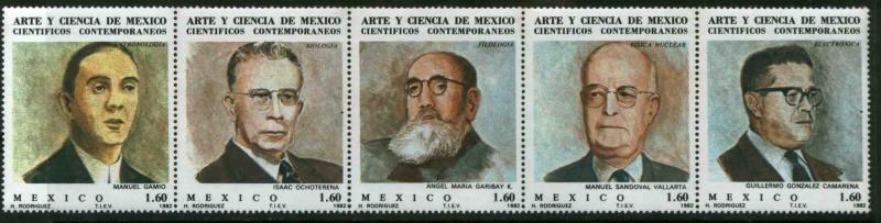 Mexico MNH Strip 1297a Famous Scientist SCV 4.00