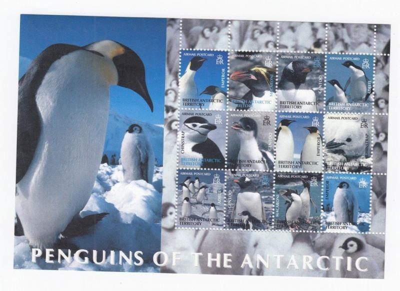 BRITISH ANTARCTIC TERRITORY # C1-C4 MNH PENGUINS OF THE ANTARCTIC S/SHEETS