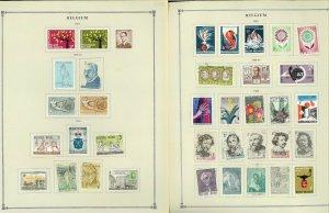 Belguim 1850-1972 Mint & Used Hinged on 46 Scott International Pages