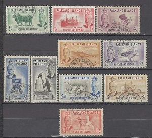 COLLECTION LOT OF # 948 FALKLAND ISLANDS # 107-16 1952 CV +$21
