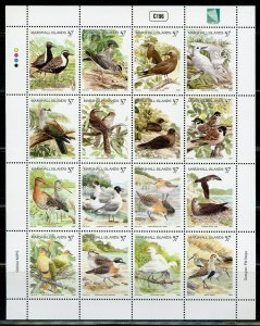 MARSHALL ISLANDS SCOTT #803 BIRDS  MINIATURE SHEET MINT NH