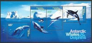 AUSTRALIA ANTARCTIC Whales & Dolphins souvenir sheet MNH...................40946