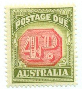 AUSTRALIA #J68 Mint Lightly Hinged, Scott $16.00