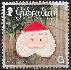 Gibraltar 1588 Used - Christmas Cookies - Santa