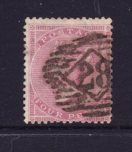 Great Britain a used QV 4d rose (SG 66) from 1855