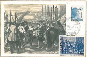 ART - MAXIMUM CARD: SPAIN 1938