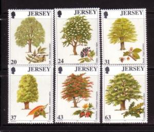 Jersey Sc 812-7  1997 Trees stamp set mint NH