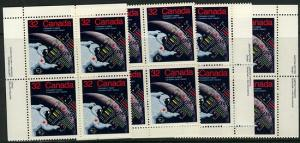 Canada USC #1046 Mint MS Imprint Blocks VF-NH Space Achievements