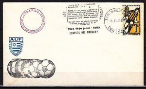 Uruguay, 1980 issue. 09/JUN/80 Soccer cancel. Cachet cover. ^