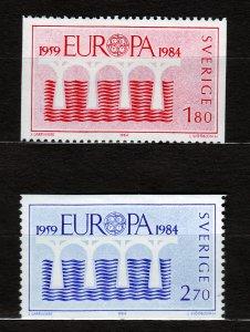 J23069 JLstamps 1984 sweden mnh set #1486-7 europa