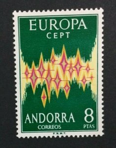 MOMEN: ANDORRA CEPT # 1972 MINT OG NH $150 SINGLE LOT #5792**