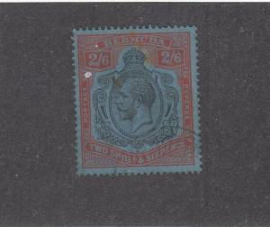 BERMUDA # 95 VF-EXTREMELY LIGHT USED KGV 2/6d CAT VALUE $125