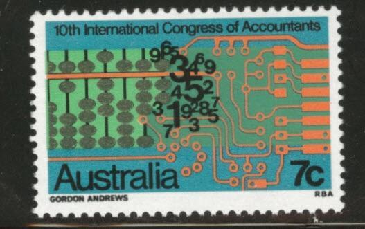 AUSTRALIA Scott 531 MNH 1972 Accounting Stamp