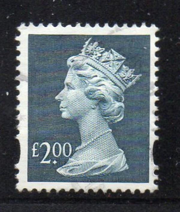 Great Brirain Sc MH281 1998 £2 QE II Machin Head stamp used