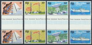 Fiji SG 615-618 SC# 445-448 MNH Telecommunications Gutter Pairs see scan