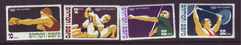 J19640 Jlstamps 1976 samoa set mnh #438-41 sports