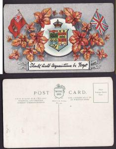 Canada #3176-Canada Patriotic postcard-view side-Should Auld Acquaintances be F
