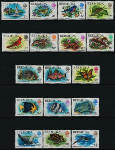 Bermuda 363-79 MNH Birds, Flowers, Frog, Fish, Butterfly, Lizard