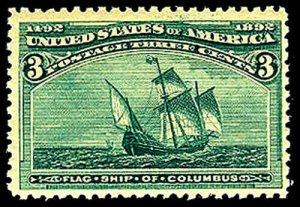 U.S. COLUMBIAN ISSUE 232  Mint (ID # 43964)