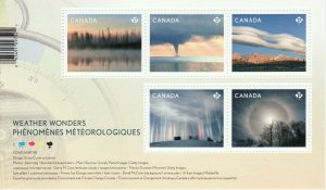 Canada Stamp #3111 - Weather Wonders (2018) (SOUVENIR SHEET)