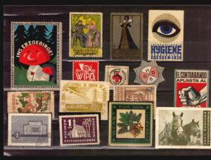 Germany exposition art nouveu several poster stamp cinderella lot oddities HSDG