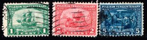 US STAMP 548–550 1920 Pilgrim Tercentenary USED STAMPS SET