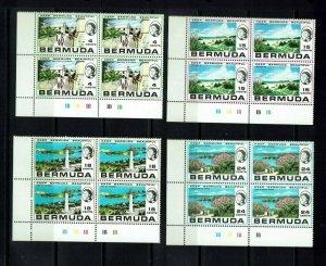 Bermuda: 1971, Keep Bermuda Beautiful  in plate blocks of 4,  Mint