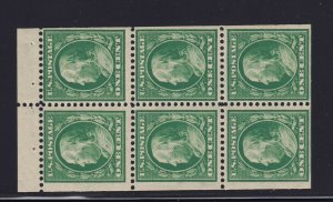 331a Booklet Pane VF OG never hinged with nice color cv $ 300 ! see pic !