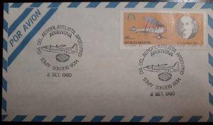 O) 1980 ARGENTINA, AVRO GOSPORT BIPLANE - MAJ FRANCISCO DE ARTEGA AIR FORCE