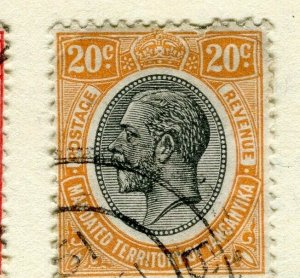 TANGANYIKA; 1927 early GV issue fine used 20c. value