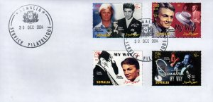 Somalia 2004 Frank Sinatra/Paul Anka/Claude Francois/MY WAY Set (4) FDC
