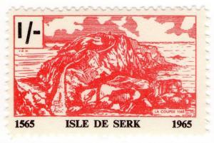 (I.B-JA) France Cinderella : Isle de Serk (Sark) Local Post 1/-