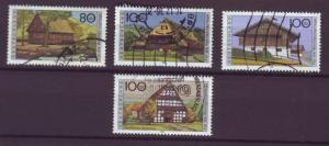 J294 jl,s stamps 1995-6 germany farmhouses used