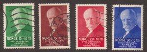 Norway   #B5-B8  used  1935    Nansen