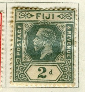 FIJI; 1922-27 early GV issue fine Mint hinged 2d. value