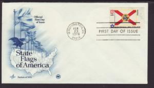 US Florida State Flag 1976 PCS U/A FDC BIN