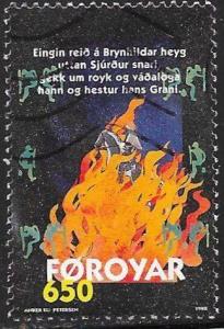Faroe Islands 333 Used - Sigurd Poem Brynhilds Ballad - Sigurd Riding