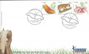 COSTA RICA FLORA & FAUNA NATIONAL PARKS, BUTTERFLY, Sc 586 FDC 2005