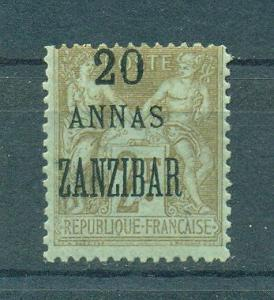 French Offices in Zanzibar sc# 27 mh cat val $37.50