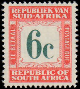 South Africa #J52-J54, Incomplete Set(3), 1961-1969, Never Hinged