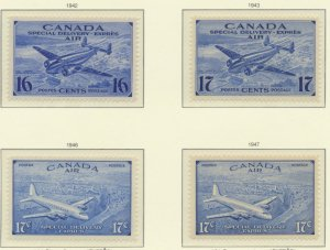 Canada Stamps Scott #CE1 To CE4, Mint Never Hinged - Free U.S. Shipping, Free...