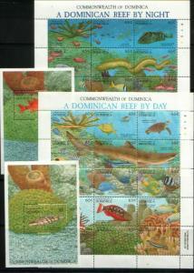 Dominica 1992 marine life fish 2klb+2s/s MNH