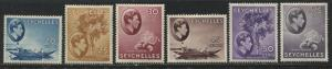 Seychelles KGVI 1938-41 20 cents to 75 cents mint o.g.