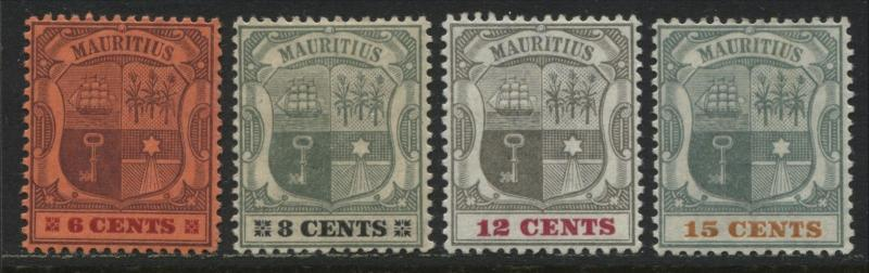 Mauritius 1895 6 cents to 15 cents mint o.g.