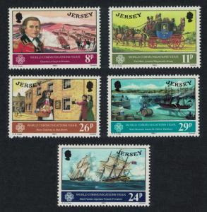 Jersey Pirates World Communications Year 4v SG#314-318