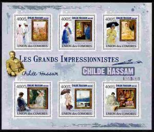 Comoro Islands 2009 Impressionists - Childe Hassam perf s...