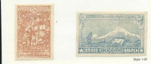 Armenia #290 &293 Imperfs (MLH) SCV $3.00